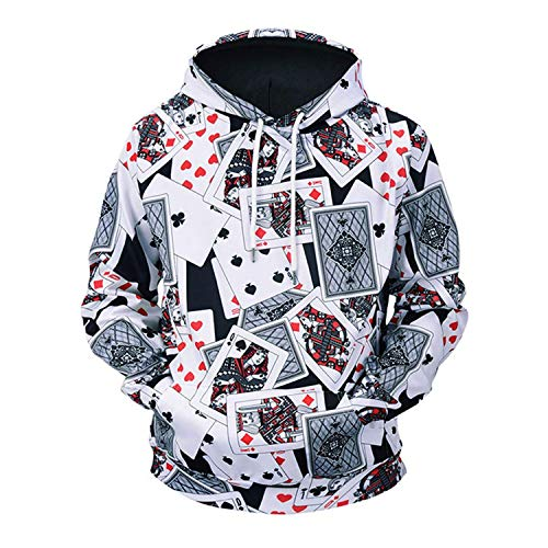 Rankei Fashion Hoodie Sweatshirts Unisex Playing Card Full 3D Printed Hoodie,XX-Large,Ж6 by Rankei outerwear