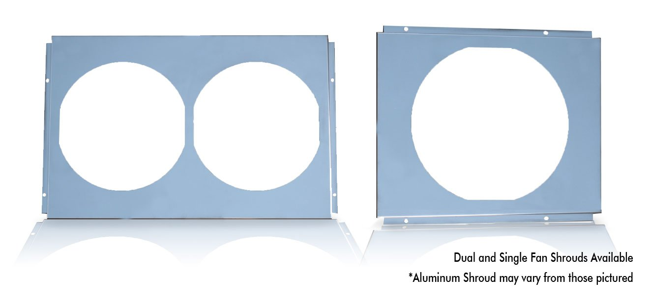 Champion Cooling, FS370/412, All Aluminum Fan Shroud for Part Number #370/412