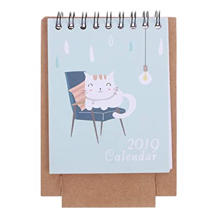 rryilong calendario de escritorio 2019 calendario de mesa de ...