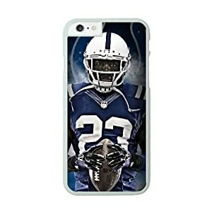 NFL Case Cover For Apple Iphone 6 4.7 Inch White Cell Phone Case Indianapolis Colts QNXTWKHE0862 NFL Phone Case For Men Custom