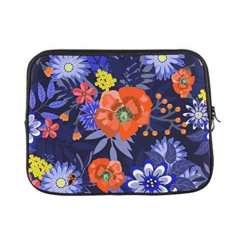 Design Custom Carnation Flowers Romantic Vintage Sleeve Soft Laptop Case Bag Pouch Skin for MacBook Air 11