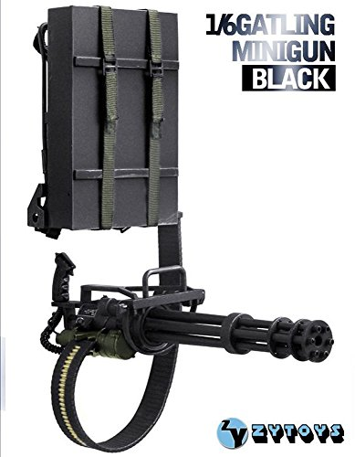 Nicky's Gift 1 6 ZY Toys Model Black M134 Heavy Machine Gun Minigun Terminator Gatling 8018