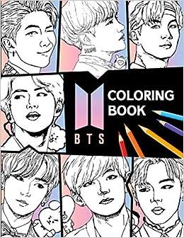 BTS Coloring Book: Bangtan Boys Coloring Books for KPOP ...