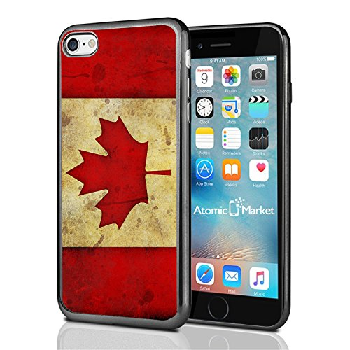 Canada Canadian Flag Grunge For Iphone 7 (2016) & Iphone 8 (2017) Case Cover By Atomic Market (Canadian Canada)