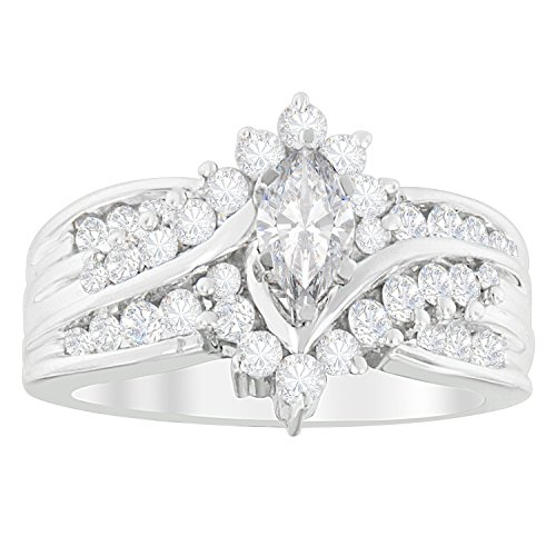 (Original Classics 14K White Gold Marquise-shaped Diamond Cocktail Ring (1 cttw, H-I Color, SI2-I1 Clarity))