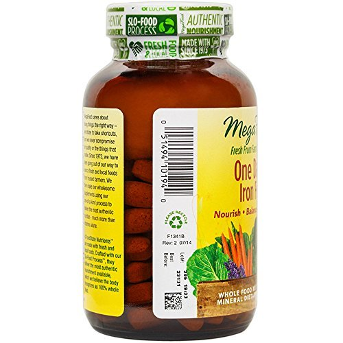 MegaFood - One Daily Iron Free, for Immune and Nervous System and and B Vegetarian, Gluten-Free, 90 Tablets