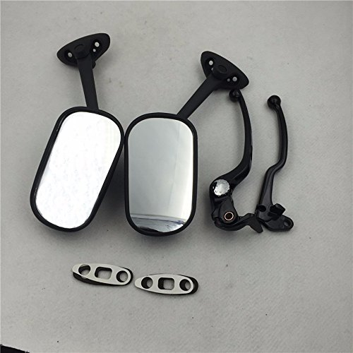 XKH Group New Black Handle Lever OEM Replacement Mirrors for 2004 2005 Suzuki GSXR 600 750 By XKH