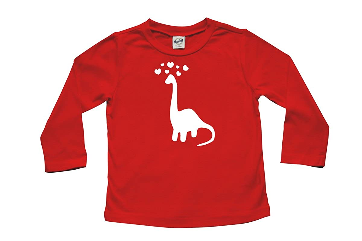 3-6 months, Red Valentines Day Baby /& Toddler Long Sleeve T-shirt Dinosaur Love
