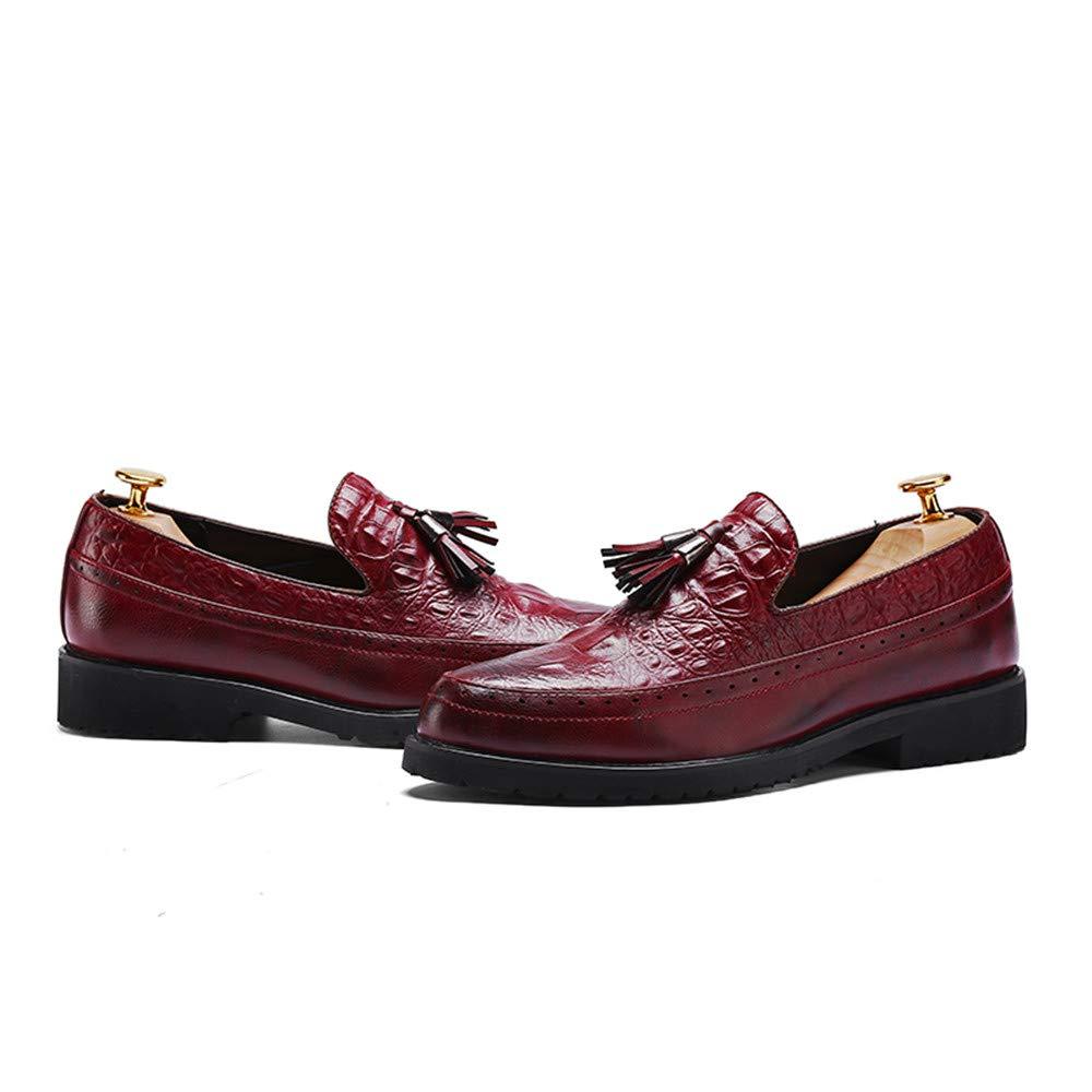 Für die neue Mode 2018, Herren Business Dicke Oxford Freizeitmode Runde Kopf Dicke Business Mode Geprägte Brogue Schuhe Rot 22a3a1