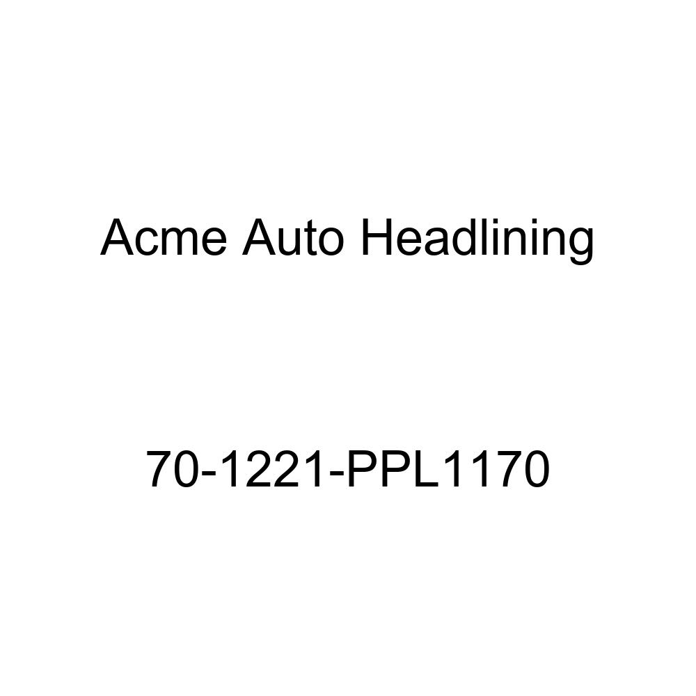 Acme Auto Headlining 70-1221-PPL1170 Dark Blue Replacement Headliner 1970 Oldsmobile 442, Cutlass and F85 2 Dr Coupe and Hardtop 5 Bow
