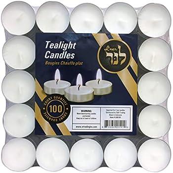 Amazon Com Zion Judaica Quality Tealight Candles