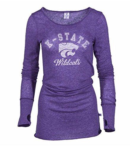 Official NCAA Kansas State University Wildcats KSU K-State Women's Long Sleeve T-Shirt with Thumbholes