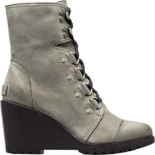 Sorel Women's After Hours Lace Up Boots, Quarry, Grey, 9.5 Medium US