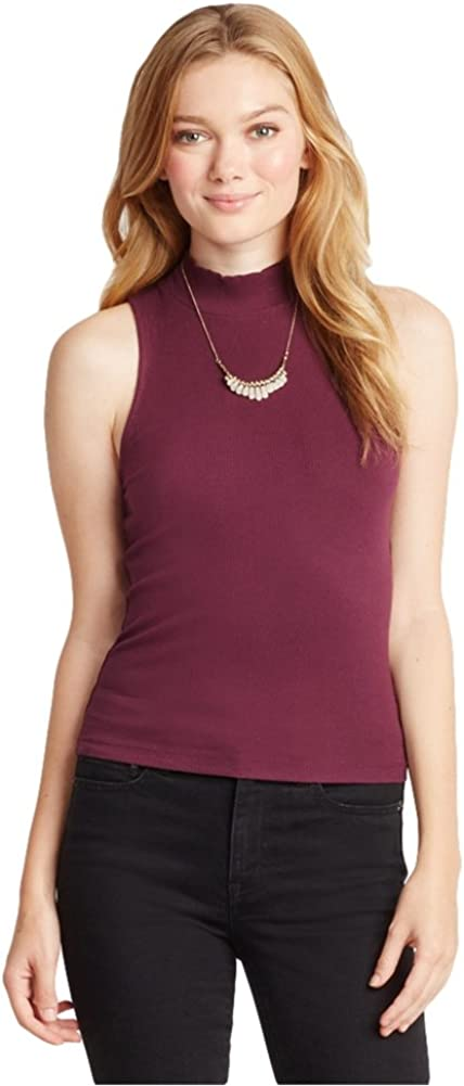 AEROPOSTALE Womens Ribbed Mock Tank Top