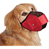 Guardian Gear Cordura Nylon Fabric Mesh Dog Muzzle, Medium/Large, 11-1/2-Inch, Red