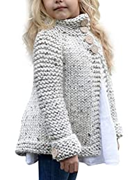 Neband Toddler Baby Girls Cute Autumn Button Knitted Sweater Cardigan Warm Thick Coat Clothes