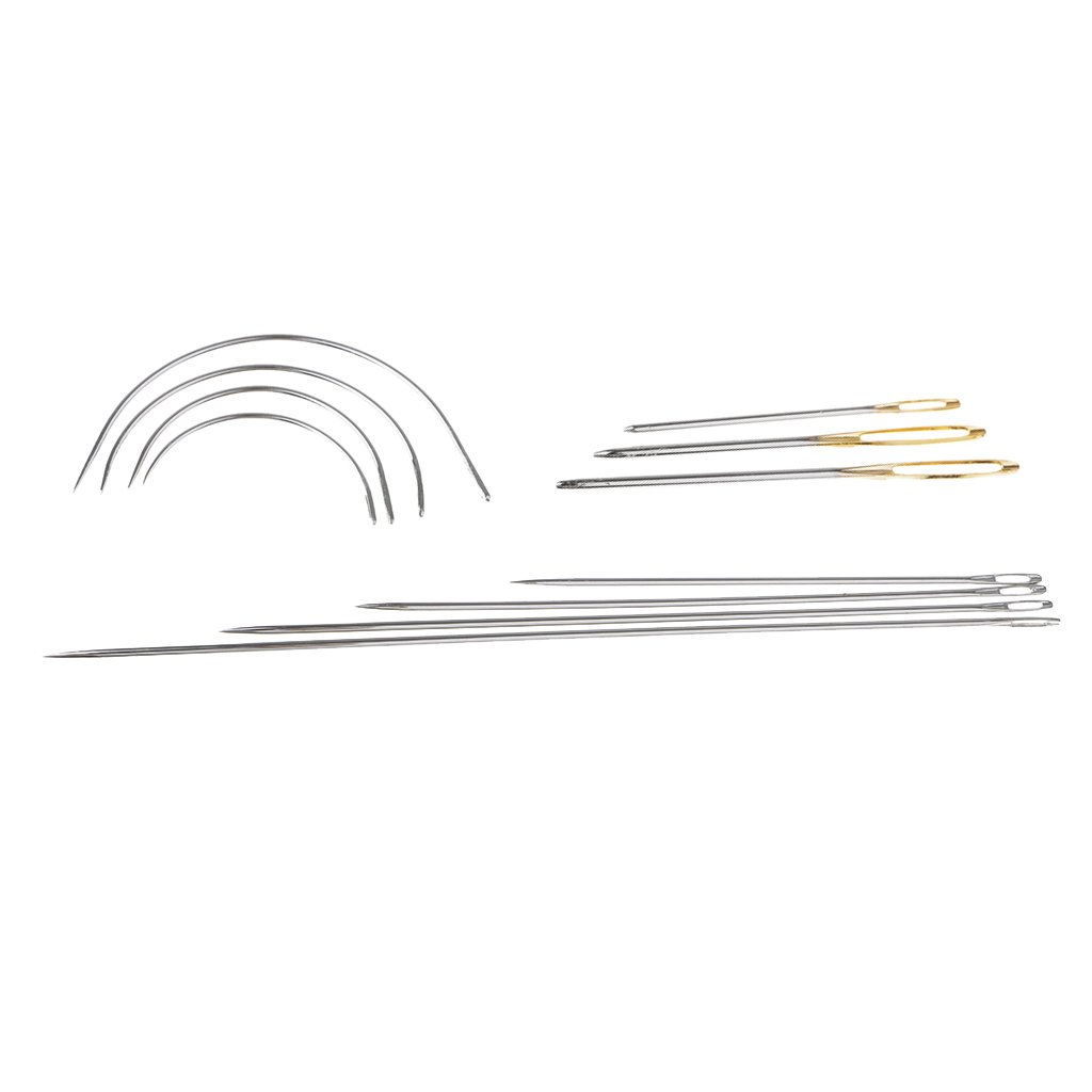 MonkeyJack 11 Pieces Assorted Stitching Needles Self Threading Hand Sewing Needles in Steel for Leather Repair Crafts DIY