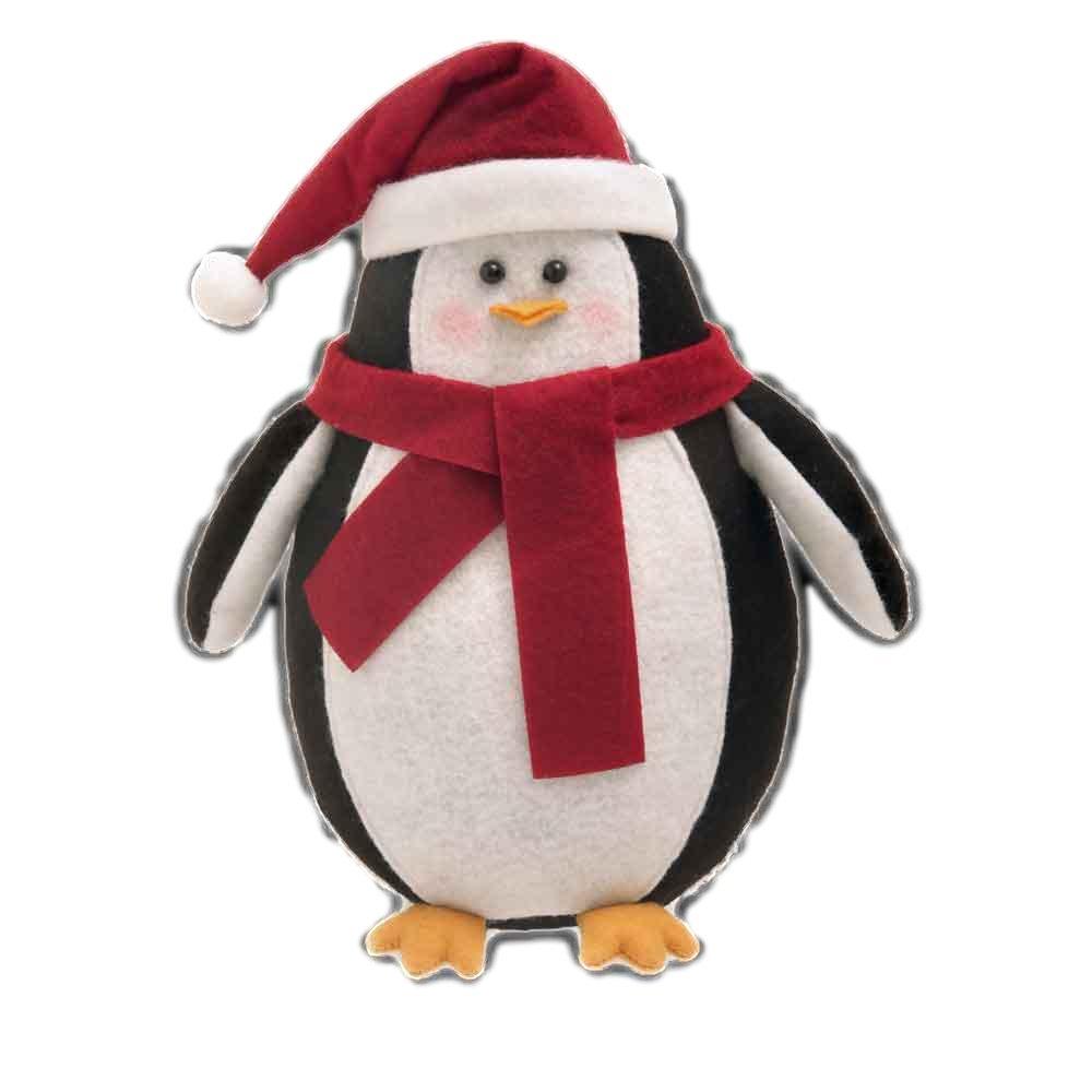 DP Novelty Christmas Door Stop Stopper Filled Heavy Animal Christmas Dog Santa Wedge (Penguin)
