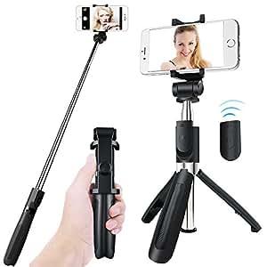 Amazon.com: Bluetooth Selfie Stick Tripod, APPHOME ...