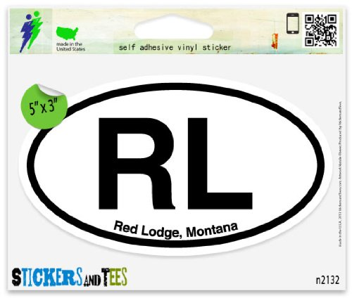 RL Red Lodge Montana Oval Car Sticker Indoor Outdoor 5