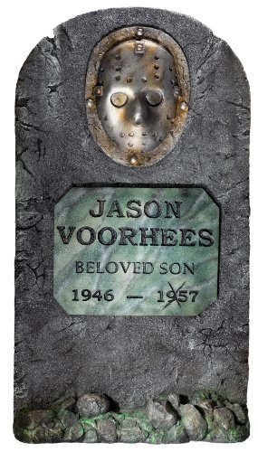 [Friday The 13th Jason Voorhees 3' Life Size Tombstone Party Outdoor Lawn Decoration] (Jason Vorhees Masks)