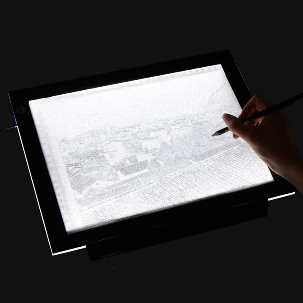HomdMarket A4 LED Ultra Sottile Light Board Disegno Essential Copy scrivania con connessione USB e la Vista