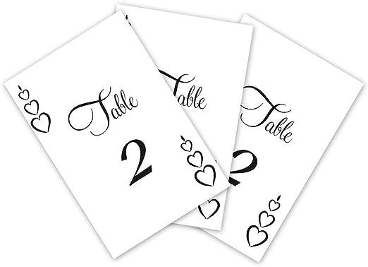 DianPrints Corazón Boda Mesa Números Decoraciones para Recepción ...