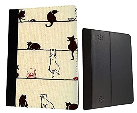 Amazon Kindle Fire HD 7'' 2nd generation 2013 Cute Multi Cats Playfull Cats Fun Designer Trend Wallet Case Flip Book Style (Kindle Case Designer)