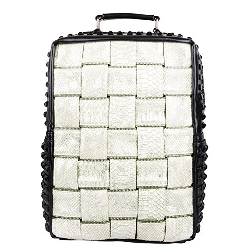 White Backpack Pu Fashion Bag Male Outdoor Woven School 6vASH81nqW