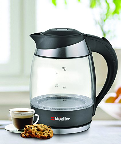 Mueller-Ultra-Electric-Kettle-Fast-Boiling-Glass-Tea-Coffee-Pot-18L-Cordless-with-LED-Light-Inside-High-Quality-Borosilicate-Glass-BPA-Free
