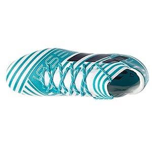 adidas Originals Men's Nemeziz Messi 17.3 FG Soccer Shoe, White/Legend Ink/Energy Blue, 10 Medium US