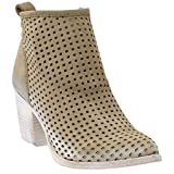 Dolce Vita Women's Kenyon Ankle Bootie, Light Olive Perforated Nubuck, 8 M US