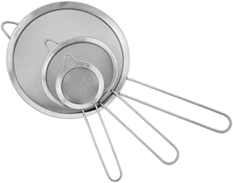 Mesh Strainer Oil Strainer Cooking Durable Filter Steel Flour Sieve FI