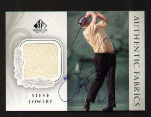 Steve Lowery signed autograph Upper Deck Fabric ()