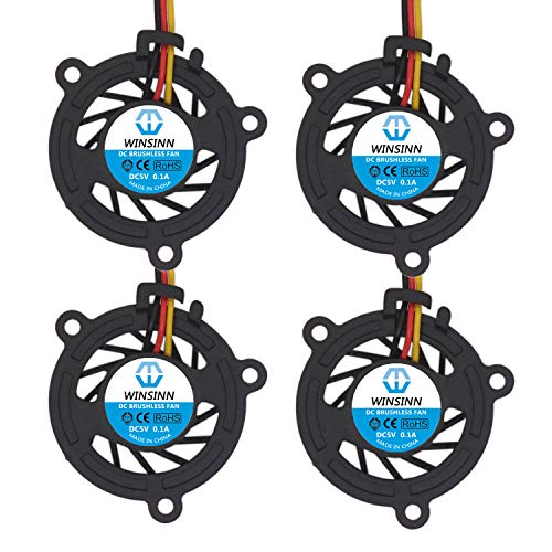 WINSINN 3008 5V DC Cooling Brushless Fan 30mm 30x30x8mm for DIY Micro Graphics Card Laptop Cooling - 3Pin 0.1A 0.5W 4500+-5% RPM (Pack of 4Pcs)
