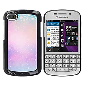 Winter - Metal de aluminio y de plástico duro Caja del teléfono - Negro - BlackBerry Q10