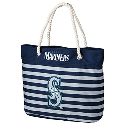 Seattle Mariners Nautical Stripe Tote Bag