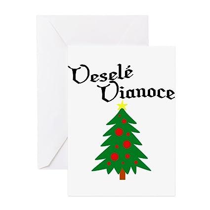 Amazon Com Cafepress Slovak Christmas Tree Greeting Card Note