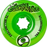Sector 9 Top Shelf Nine Balls Skateboard Wheel, Green, 70mm 78A