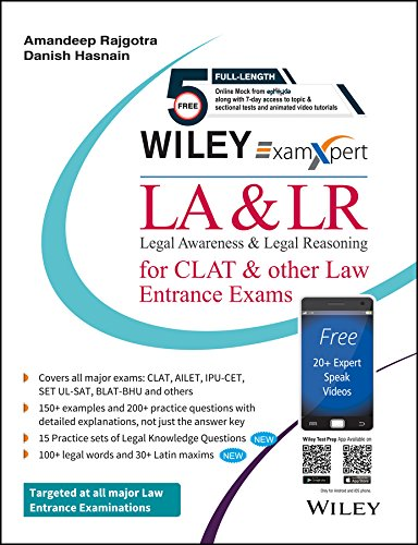Buy Wiley S Examxpert Legal Awareness Legal Reasoning La Lr For Clat Other Law Entrance Exams Book Online At Low Prices In India Wiley S Examxpert Legal Awareness Legal