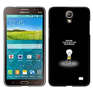 Stuss Case / Funda Carcasa protectora - This Is Not For Your Brains - Samsung Galaxy Mega 2