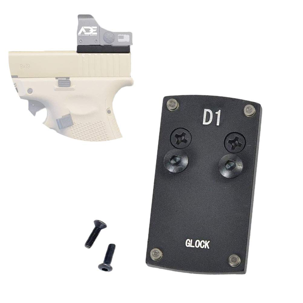 Glock Sight Mount Plate - Glock 17 19 22 23 26 27 34 35 37 41 Mounting Plate for Mini Red Dot Sight, Pistol Handgun Glock Mount Plate Base for Red dot Burris Sightmark Vortex Venom Tactical Hunting Ac by K-Point