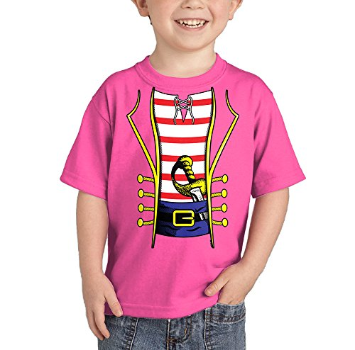 Toddler/Infant Pirate Costume T-shirt (12 Months, PINK)