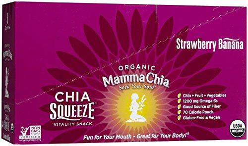 Packs de Chia Squeeze Mamma - fraise banane - 3,5 OZ - pk 16