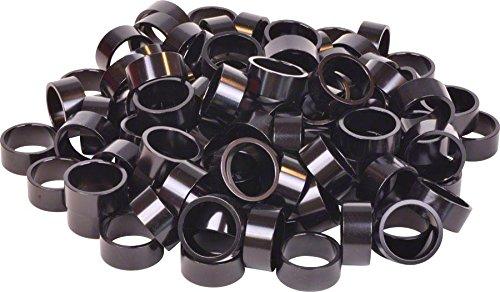 Wheels Manufacturing Bulk Headset Spacers 1-1/8 x 15mm Black Bag of 100