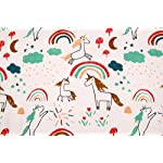 Unicorn-Print-Baby-Blanket-Unisex-Bamboo-Toddler-Blanket-for-Boys-and-Girls-Oversized-47-x-47-2-Layers-Muslin-Stroller-Blanket-Unicorn