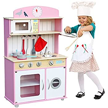 Deluxe Wooden Kitchen Toy Pretend Kids Children Role Play Set With  Accessories By Oye Hoye