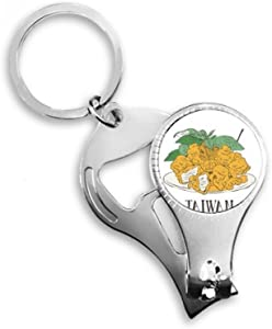 Snake Food Fried Chicken Pieces Nail Nipper Ring Key Chain Bottle Opener Clipper