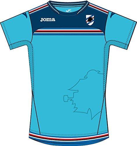 JomaトレーニングシャツSampdoriaターコイズ公式ライセンスチームジャージー半袖 ブルー X-Small