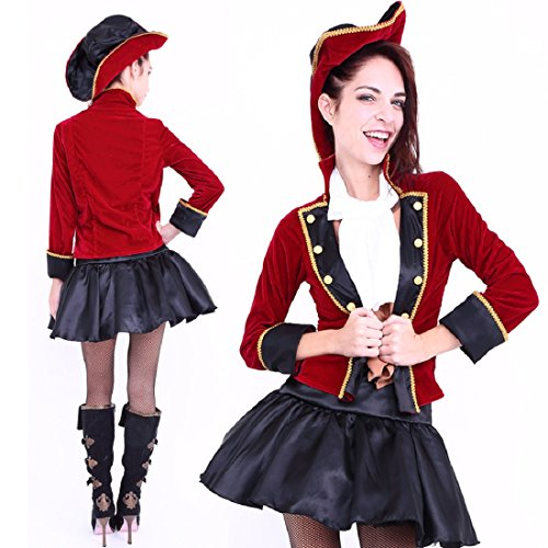 [Club Queen -- Pirate Captain Lady Costume-- XS to Small Size] (Womens Boxing Costumes)
